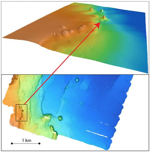 AUV bathymetry of Pescadero Basin